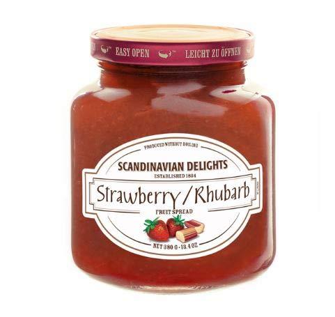 Elki's Gourmet Scandinavian Delights Preserves, Strawberry/Rhubarb, 13.4 Ounce