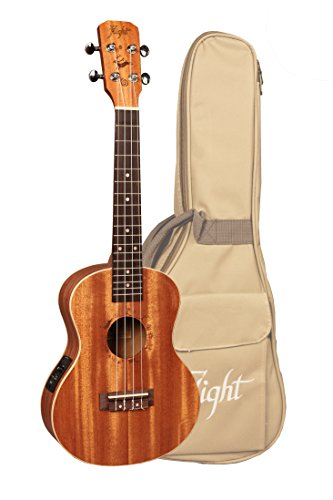 Flight DUT 34 CEQ Designer Series Tenor Acoustic/Electric Ukulele with Gig Bag by Flight