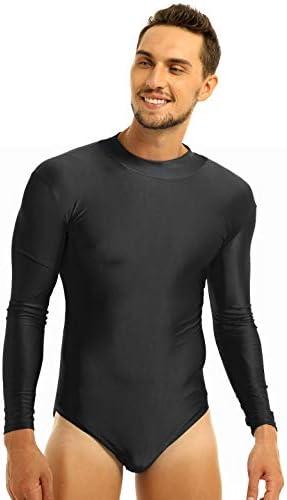 iiniim Women Men Long Sleeve Leotard Adult Mock//Turtle Neck Lycra Spandex Ballet Dance Bodysuit