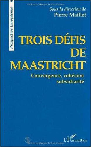 Lire Trois défis de Maastricht pdf, epub