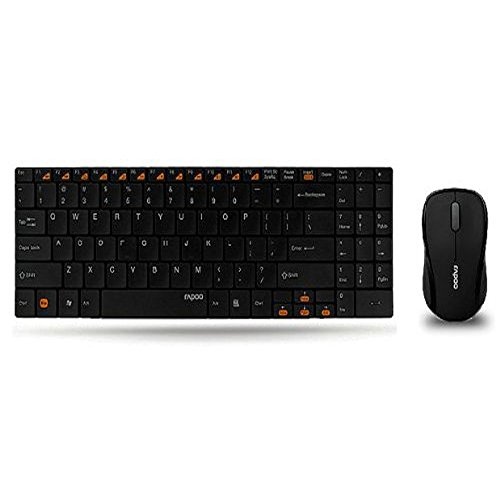 5003490bd3f ZOMEi Rapoo 9060 Black 2.4GHz Wireless 5.6mm Ultra-Slim Blade Keyboard With  Mouse