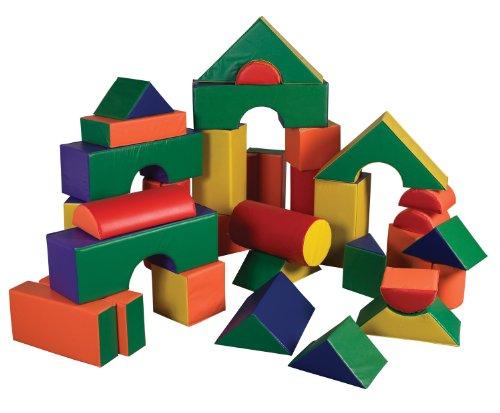 ECR4Kids SoftZone Jumbo Soft Foam Play Blocks (35-Piece Set) by ECR4Kids