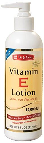 De La Cruz Vitamin E Lotion 12,000 IU 8 oz. / Allergy Tested (Allergy Lotion)