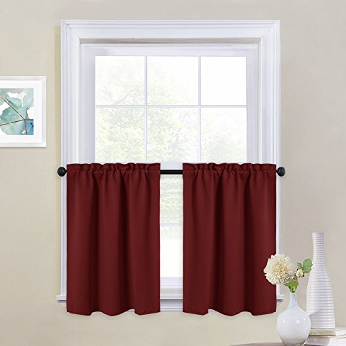 NICETOWN Small Window Curtain Valances - Pair of Thermal Ins