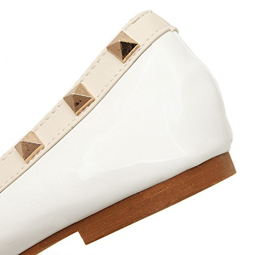 Adeesu Chaussures Temps De Femmes Confort Blanches Flats Des Uréthane Tous rarwq08n