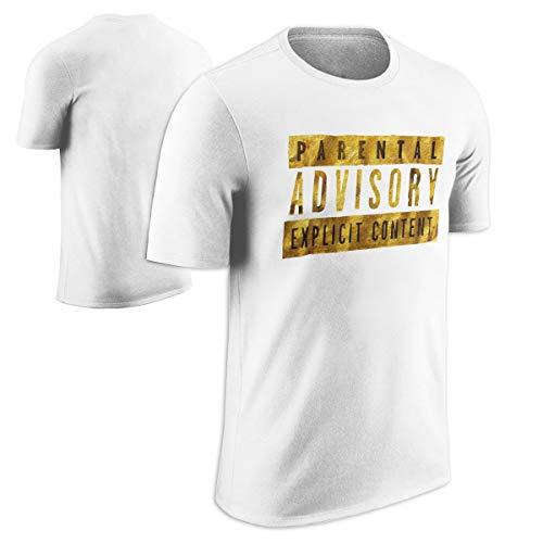 - Parental Advisory Explicit Content Warning Label - Gold Foil T-Shirt