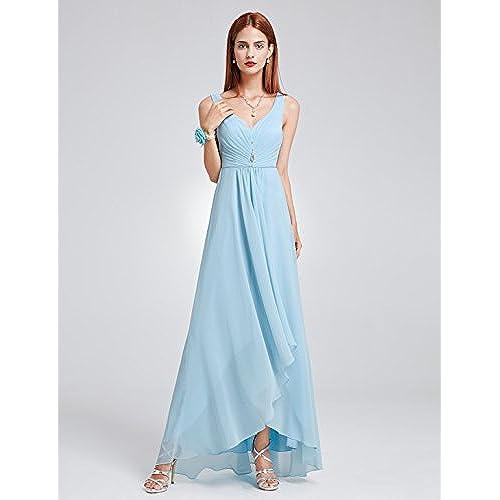 Ever Pretty Womens Long Semi Formal Wedding Guest Dress 12 US Sky Blue