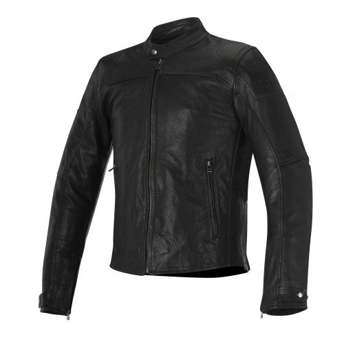 Alpinestars Men's Men's Brera Airflow Black Leather Jacket 2810-3002
