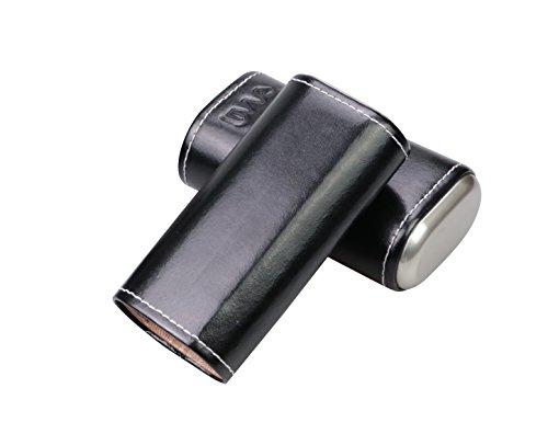 2 Finger Leather Cigar Case (RAAM Black Leather Cigar Case - Two Finger)