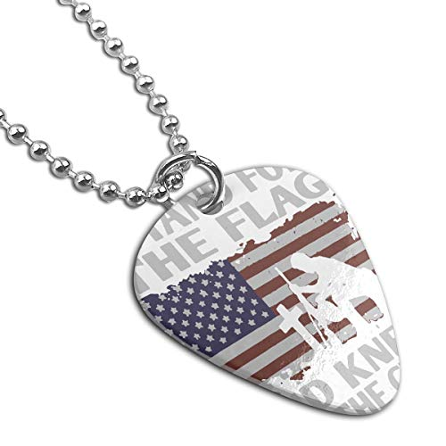 Slight Fligh Necklace I Stand for The Flag Kneel for The Cross Military Army Pendant Tag Guitar Picks