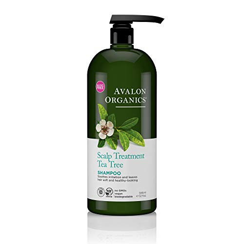 (Avalon Organics Scalp Treatment Tea Tree Shampoo, 32 oz. )