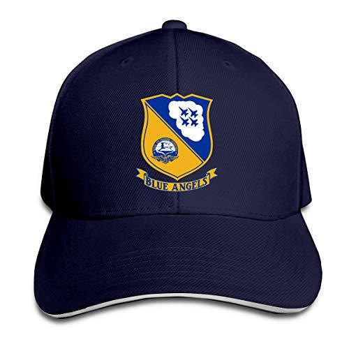 US Navy Blue Angels Logo Adjustable Sandwich Cap Baseball Cap Casquette Hat