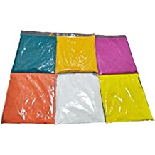 Rangoli Colors - Design Creativity Diwali Floor Design, Festival Colors(Set of 6 Colors 50 gm each packs and White color 100 gm pack) , Mother's Day Gift