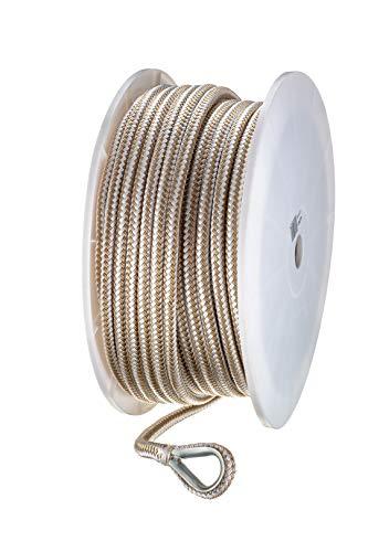 - Seachoice 42391 Double-Braid Nylon Anchor Line - Gold and White - 1/2 Inch x 250 Feet
