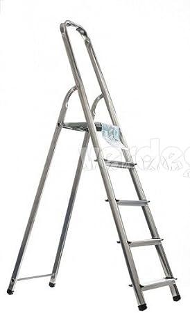Artub Escalera de Aluminio a 7 Peldaños: Amazon.es: Jardín