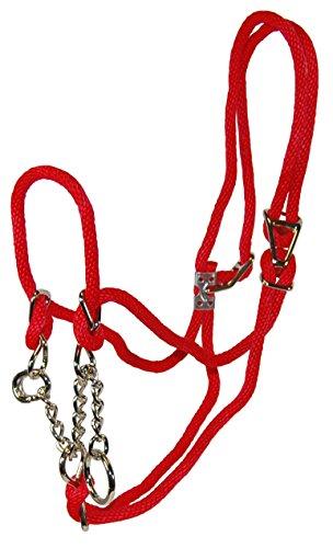 Hamilton Poly Rope Calf Halter with 10-Inch Chain, 3/8-Inch, (Hamilton Rope Halter)