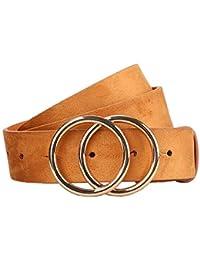 Women's Leather Belt Fashion Soft Faux Leather Waist...