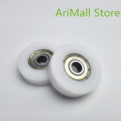 - KIMME 5pcs 6309 mm F Type Nylon Plastic Idler Pulley Ball Bearings Door and Window Wheel 626 POM Flat Slide Wheel