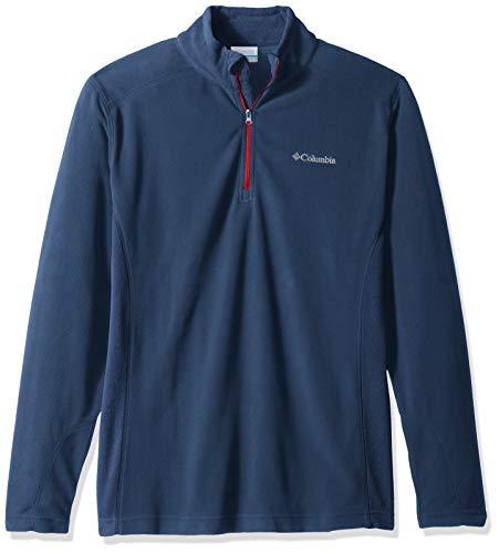 - Columbia Men's Klamath Range II Half Zip Sweater, -dark mountain, red spark, L