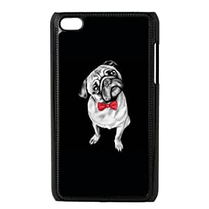 iPod Touch 4 Case Black Percy Pug