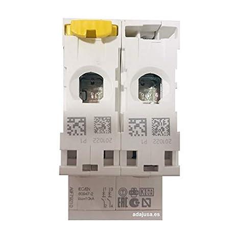 Schneider A9F74310 miniature circuit breaker 10 A iC60N C curve 3 poles