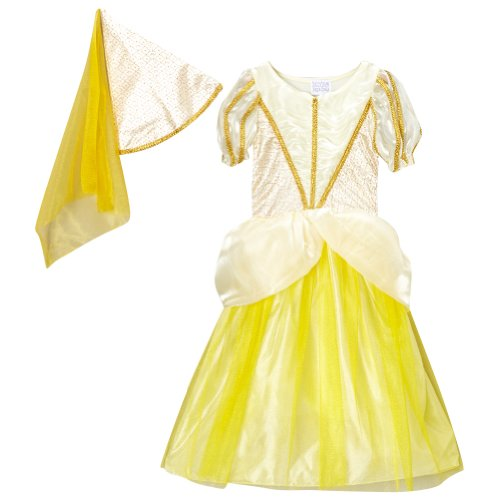 [Golden Yellow Classic Princess Dress & Cone Hat, Size 6/8] (Classic Childrens Book Costumes)