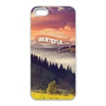 iphone5 iphone5s Case,Beautiful Scenery - The Mountain Scenery,Beautiful Mountains and Rivers Pattern Fashion Trend Durable Hard Plastic Scratch-Proof Protective Case,White