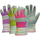 Boss Gloves 749 Assorted Colors Ladies Split Palm Leather Gloves