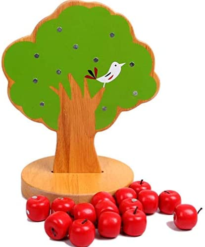 Zerodis Giocattolo educativo precoce in legno Puzzle matematico con melo magnetico per bambini Bambini Mani e capacit/à cerebrali