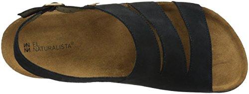El Naturalista Men N5099 Pleasant Black/Koi Flat Sandal Black