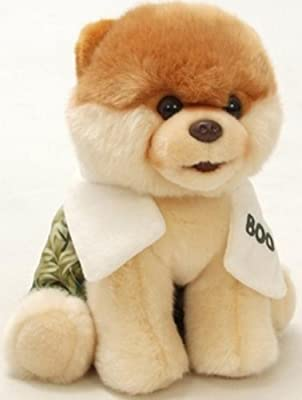 """Gund Boo The World's Cutest Dog With Swim Trunks & Towel 9"""" Plush Toy (Limited Quantity)"""