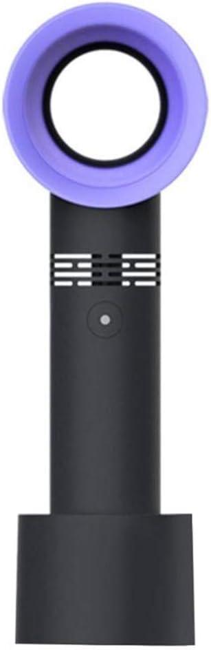 Ruikey Ventilador De Mesa Ventilador Portatil Recargable Ventilador USB Sin Aspas para Mesa, Cochecito De Bebé, Cama, Camping, Coche, Oficina, Casa Y Aire Libre(Negro)