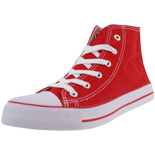 d7326c8518df Hengst no sense canvas hi top trainers - red  Amazon.co.uk  Shoes   Bags