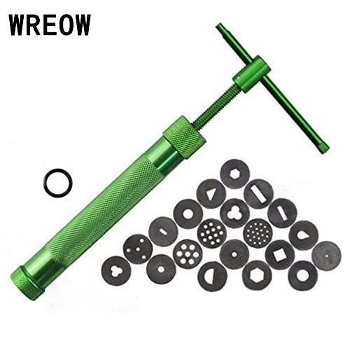 (HBK Rotating Polymer Clay Kit Tool Extruder Crowded Mud Machine for Pottery Arts Crafts Cake Fondant Sculpture Tools B3)