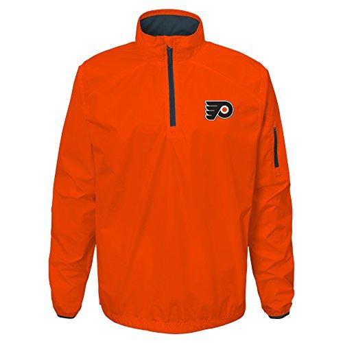 NHL Philadelphia Flyers Youth Boys Alpha Performance 1/4 Zip T-Shirt, Varsity Orange, Large(14-16)