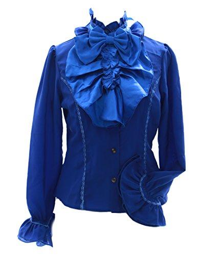 nbsp;azul Kawaii 560 Vintage Cosplay story Jl Lazo Gasa De Blusa Gothic Lolita fIqfAawO