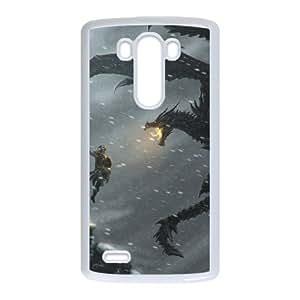 the elder scrolls v skyrim 3 LG G3 Cell Phone Case White 53Go-133735