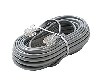 Steren 304-015SL 4.57m Plata cable telefónico - Cable para teléfonos fijos (4