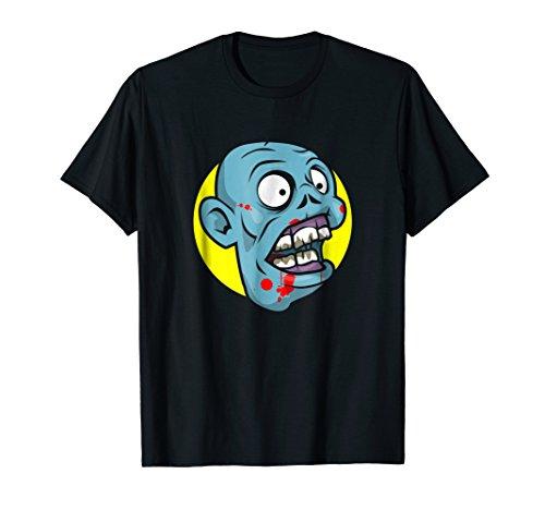 Zombie Head - Undead Monster Demon Halloween Graphic T-Shirt -