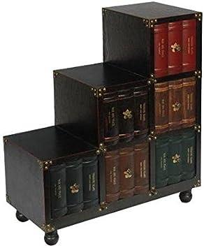 Vilys House Mueble Escalera Derecha imitación Libros con 6 cajones: Amazon.es: Hogar