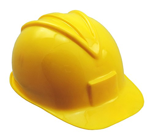 [Yellow Plastic Hard Hat Construction Cap] (Man Construction Worker Costume)