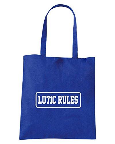 T-Shirtshock - Bolsa para la compra TUM0198 lulic rules Azul Real