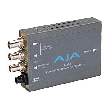AJA ADA4 4-Channel Bi-Directional Audio A/D & D/A Converter by AJA Video Systems