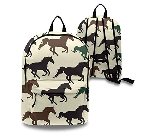 YongColer Casual College School Daypack, Big Capacity Daypack for Hiking Picnic Running, Horse Racing Travel and Sport Backpack Rucksack for Men Women Kids ()
