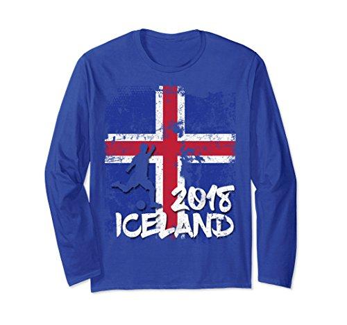 Unisex Iceland Flag Soccer Jersey Long Sleeve Shirt 2018 XL: Royal Blue Team Flag Football Jersey