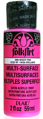 FolkArt Multi-Surface Paint in Assorted Colors (2 Ounce), 2896 Bright Pink