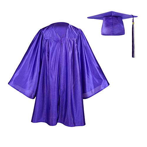 Kindergarten Graduation Gown Cap Set, Two-colored Tassel with