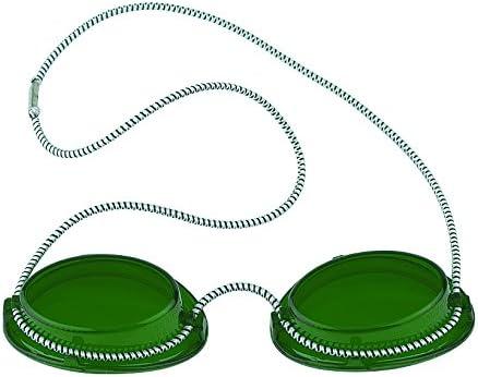 600005 - Gafas de protección UV para solárium (con goma elástica), color verde