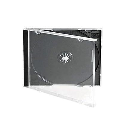 10 cajas de CDs individuales estándar, con bandeja negra ...