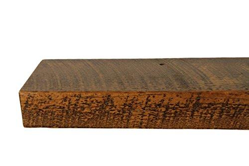 30'' W X 7'' D X 3'' H, Rustic Floating Wood Mantel, Shelf, Antique, Wooden, Shelves, Industrial by Joel's Antiques & Reclaimed Decor (Image #2)